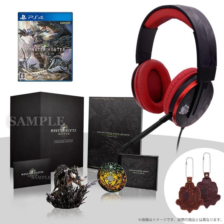 モンスターハンター:ワールド コレクターズ・エディション(PS4)+オリジナルヘッドセット リオレウスモデル