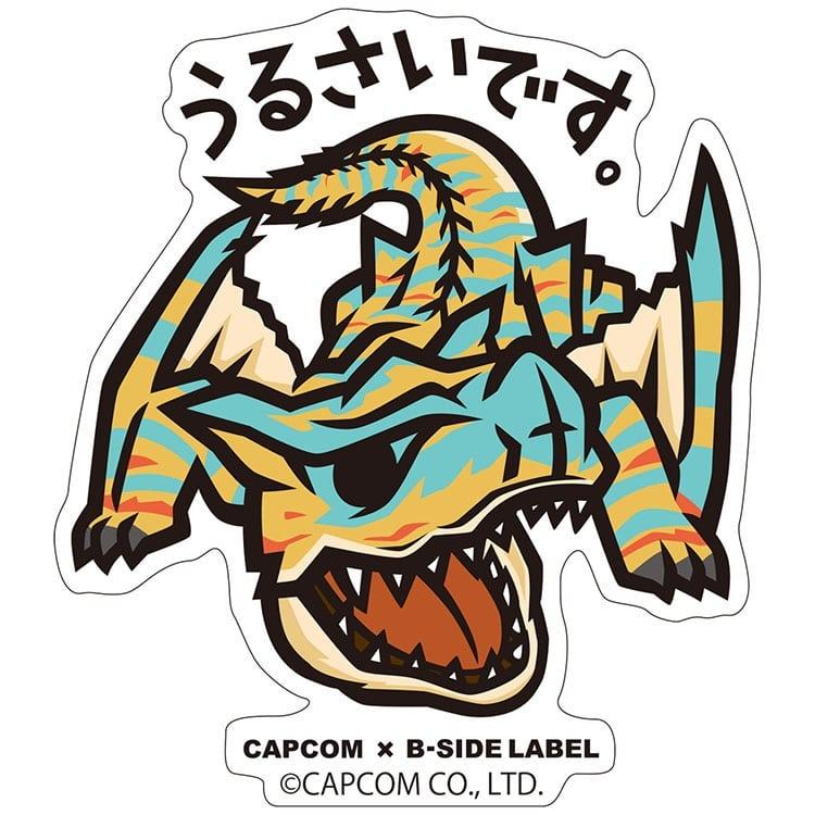 CAPCOM×B-SIDE LABELステッカー モンスターハンター うるさいです。