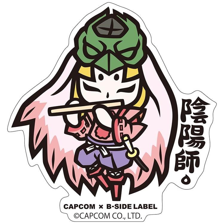 CAPCOM×B-SIDE LABELステッカー 大神 ウシワカ デフォルメ